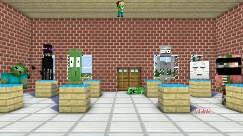 Monster School Herobrine's Life VS Slendrina Minecraft Animation