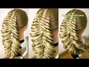 Объёмная пятипрядная коса Воздушная причёска Trenza Hair tutorial