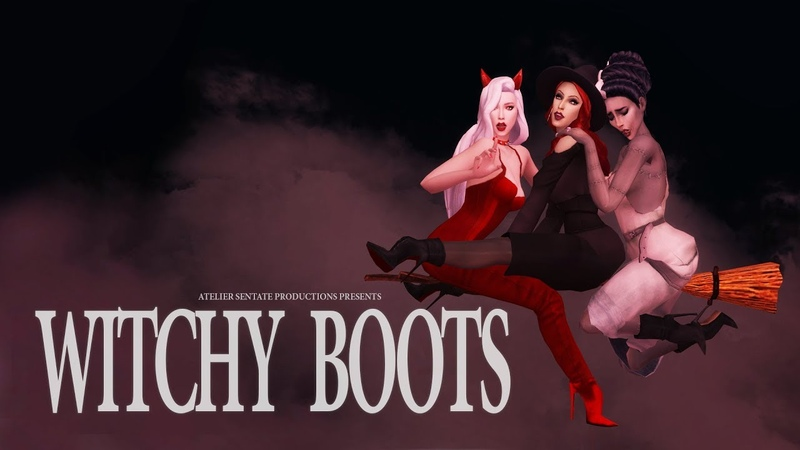 Witchy Boots - Halloween Micro-Movie (The Sims 4)