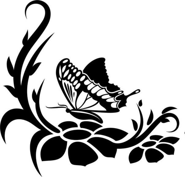Materiales gr ficos gaby varias plantillas de mariposas - Moldes para pintar paredes ...