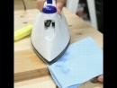 Удаление мелких вмятин и царапин при помощи утюга.