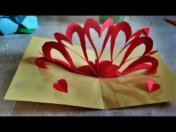 Handmade Love Card   Cute Love Gift Card   Easy Paper Craft