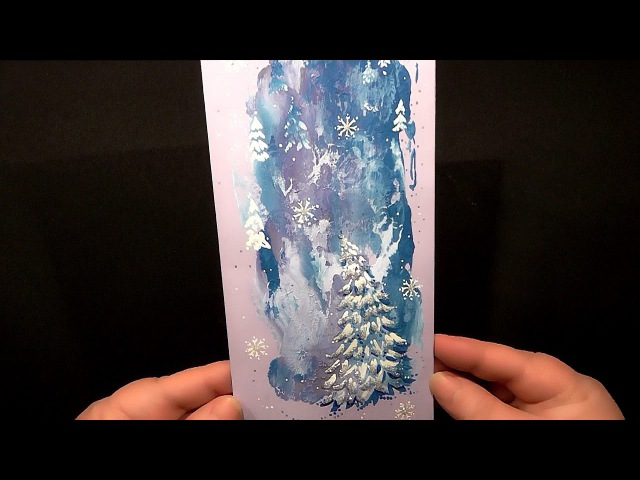 Speed Painting   Winter Greeting Card   Technique Monotype   Gouache   IOTN