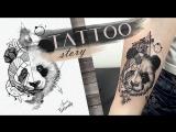 Tattoo story Panda geometry