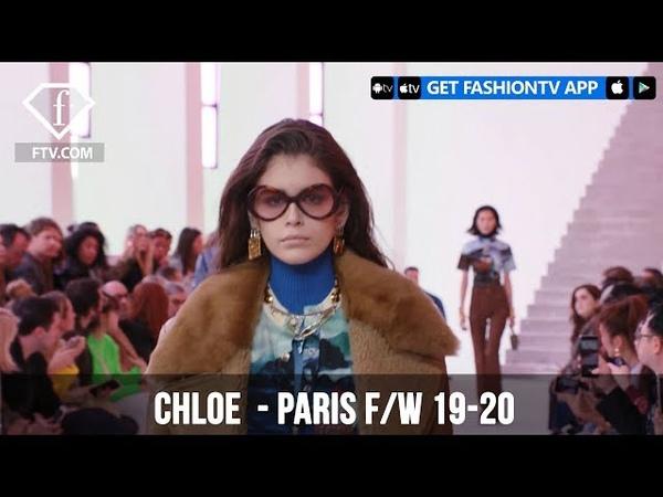 Kaia Gerber at Chloe Paris Fashion Week F/W 19-20   FashionTV   FTV