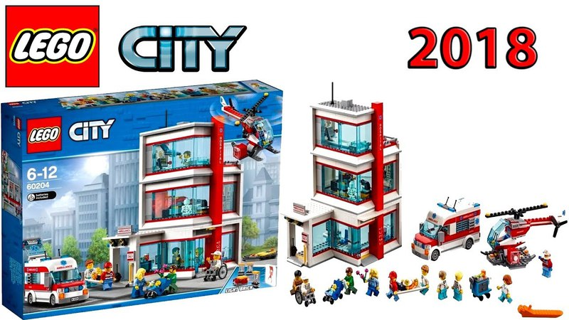 LEGO CITY 60204 Hospital 2018 Set