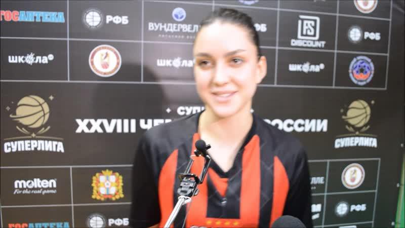 Майа Сафиулина подвела итоги матча с Нефтяником (24.10.2018)