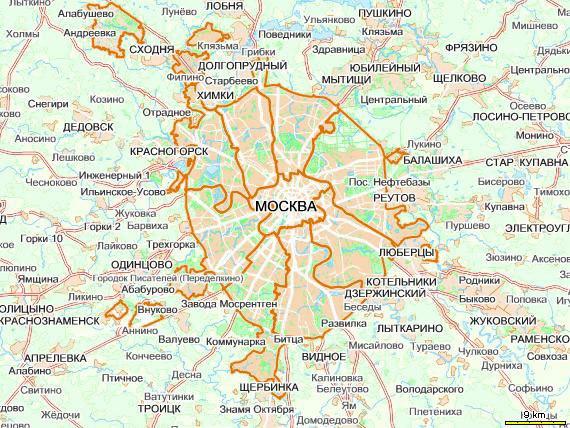 карта москвы с улицами и