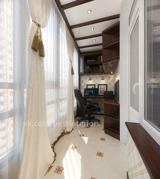 Балкон под кабинет фото
