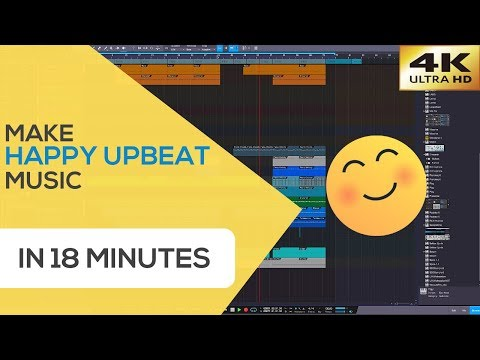 How To Make Happy Upbeat Music Track in 18 minutes | Music Composing in Studio One 4