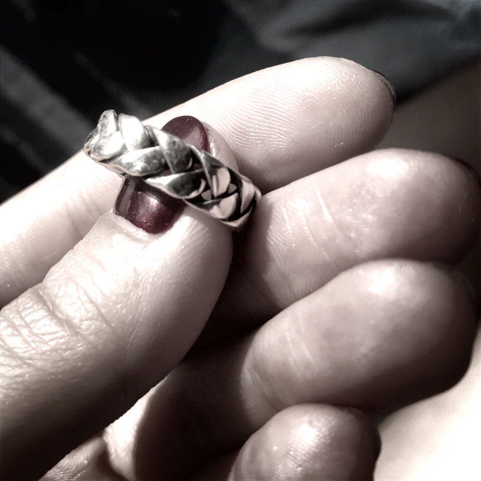 Кольцо - косичка