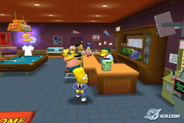 игра the simpsons hit run
