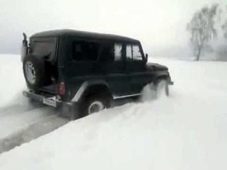 УАЗ - Hunter ( дизель)  - По снегу ! )))