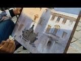 Plein Air Watercolour Landscape Painting Italy Ganesh Hire