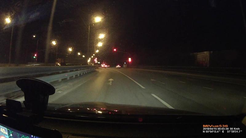 Съезд со МКАД в Бусиново через Лихачевское шоссе