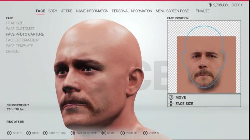 закидываем фото в игру на пиратке для создания лица в карьере