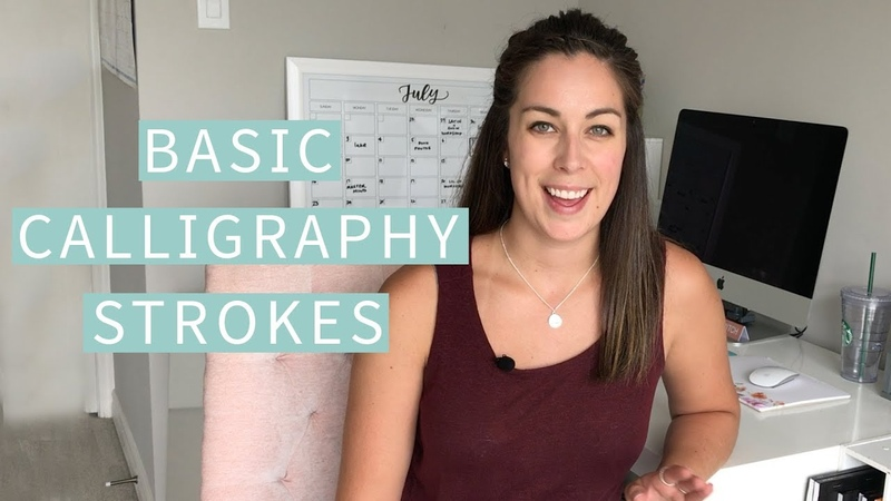 Basic Calligraphy Strokes (Beginner Calligraphy 101) | The Happy Ever Crafter