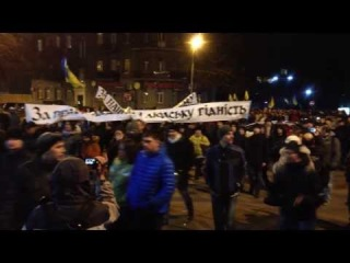 Харьков. 21 февраля 2014 г. Митинг оппозиции. Шествие