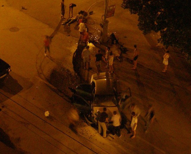 В центре Таганрога на улице