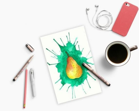 Как рисовать акварелью при помощи соломинок