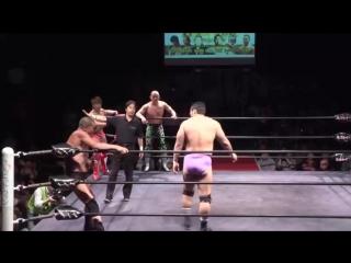 Hideki Suzuki, Super Tiger, Takatoshi Matsumoto vs. Minoru Tanaka, Mitsuya Nagai, Yoshiaki Fujiwara (Toshiaki Kawada Produce)