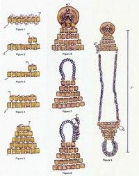 Схема плетения браслета из бисерных нитей.
