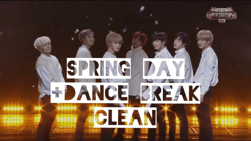 [No Audience CLEAN] BTS - Spring Day Dance Break Remix (KBS Gayo Daechukje)