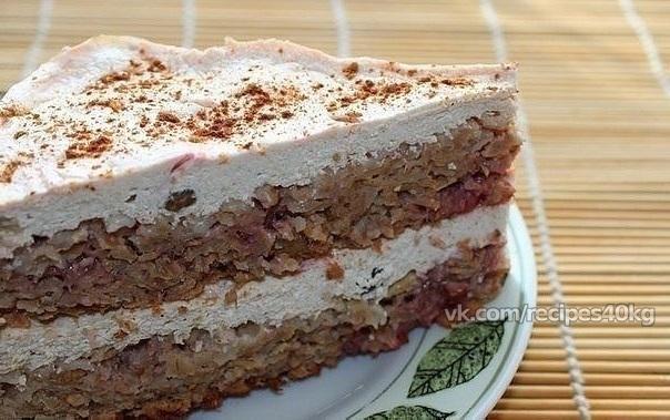 Диетический торт овсяная мука