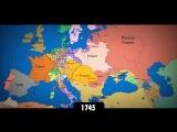 Политическая карта Европы с 1140 по 2014 гг.