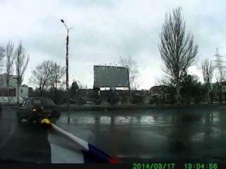 Что делать, когда в Донецке тебя тормозит киевский гаишник!!!