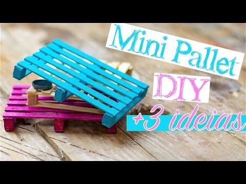 DIY - Mini Pallet   3 ideias