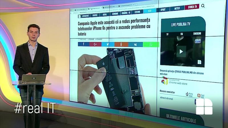 RealIT Apple este acuzată că a redus performanţa telefoanelor iPhone 6s pentru a ascunde probleme cu bateria