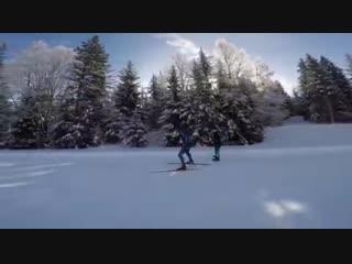 Мартен тренируется с французскими лыжниками. 08.02.19