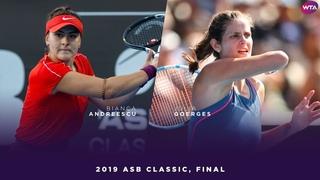 Bianca Andreescu vs. Julia Goerges   2019 ASB Classic Final   WTA Highlights