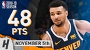 Jamal Murray EPIC Career-HIGH Highlights Nuggets vs Celtics 2018.11.05 - 48 Points!