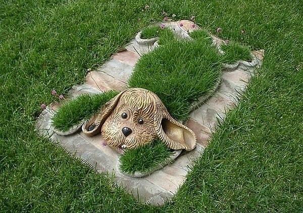 Мини-газон на газете