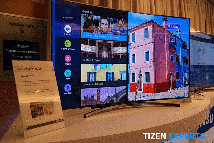 Tizen TV (прототип) на Tizen Developer Conference 2014