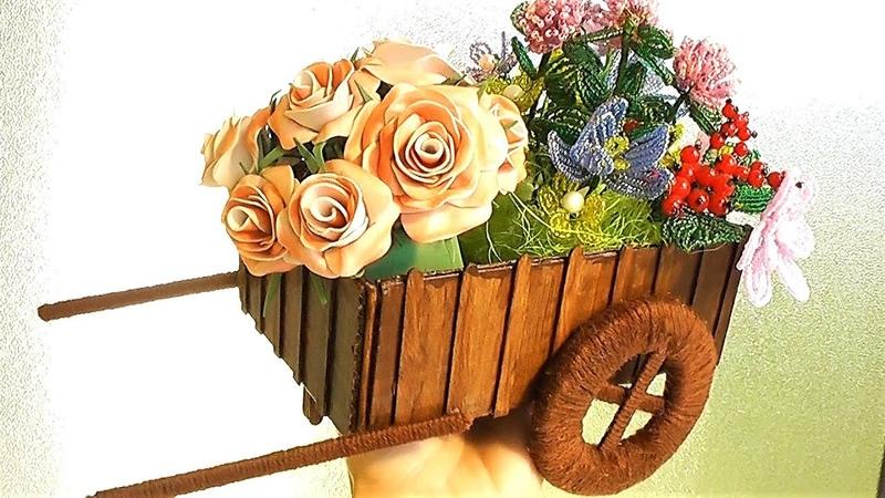 Декоративная ТЕЛЕЖКА своими руками / ИДЕЯ, Декор, подарок своими руками