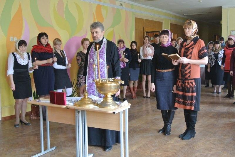 освящение школы №27 в Таганроге