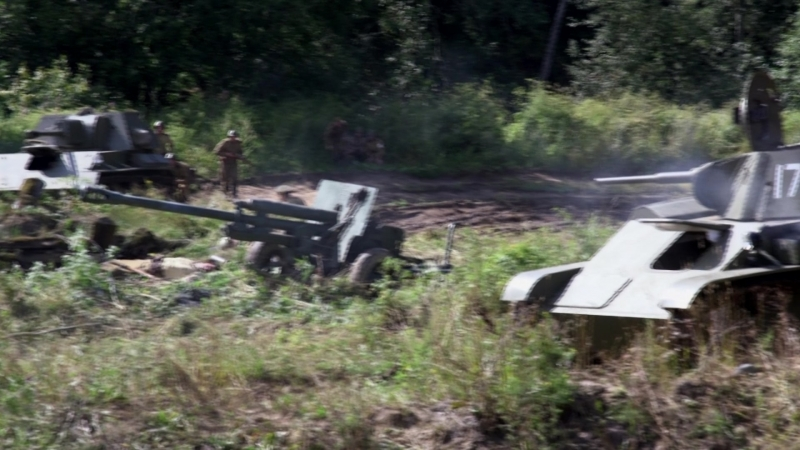 Курская битва реконструкция 5 августа 2018 вариант цветокоррекции