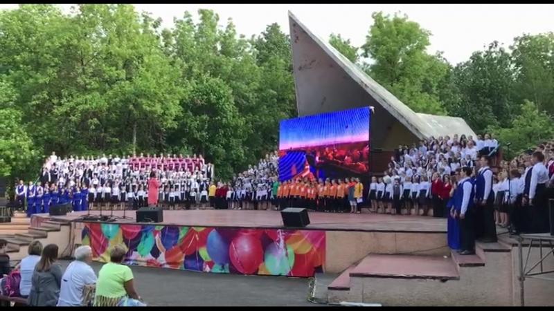 Детский хоровой праздник в Пскове, 24 мая