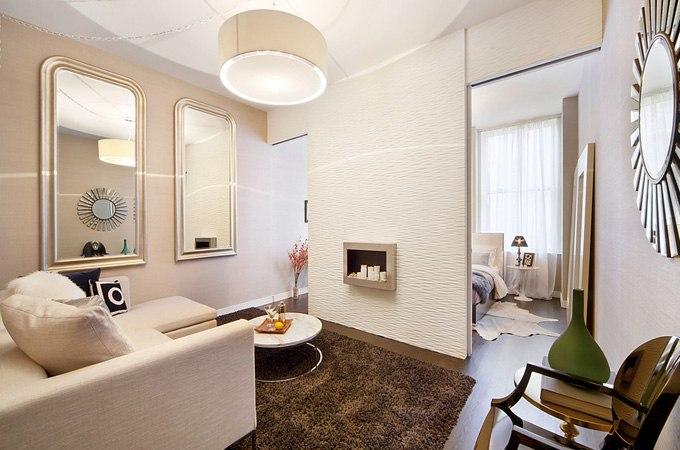 Дизайн квартиры-студии 73 м на Манхэттене в Нью-Йорке / США - http://kvartirastudio.