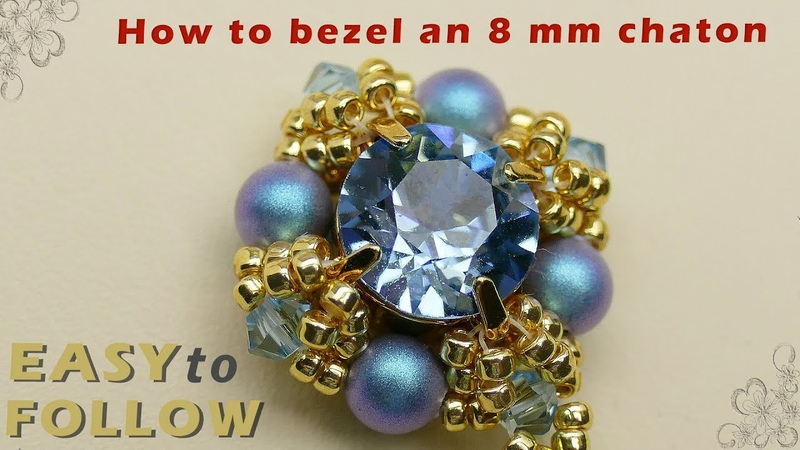 How to bezel an 8 mm chaton
