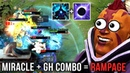 Miracle Anti Mage Most WTF RAMPAGE Combo with gh Magnus Dota 2