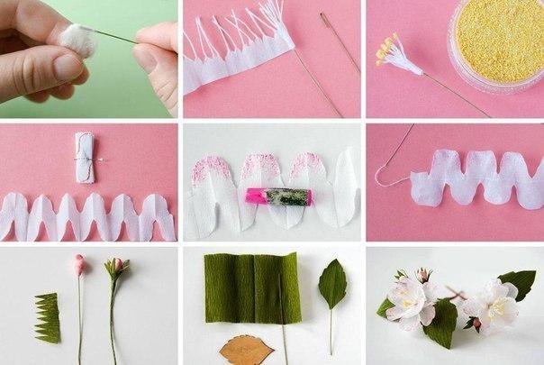 Цветы из креповой бумаги своими руками с конфетами