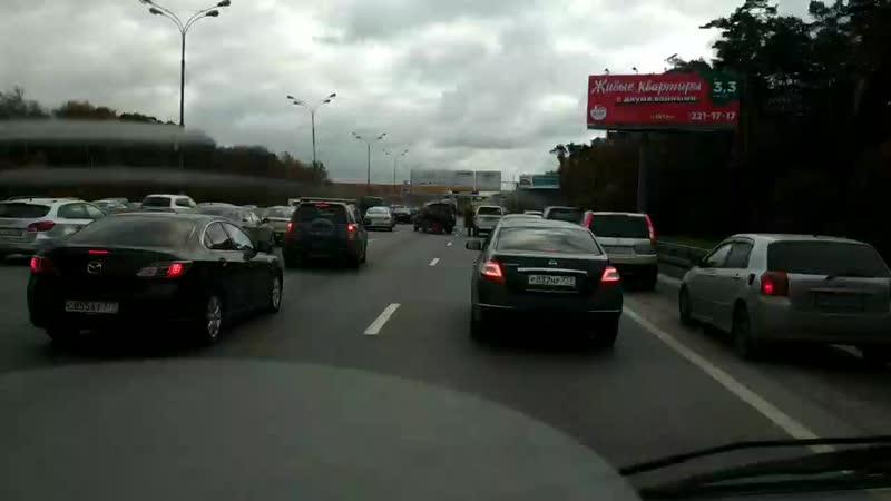 МКАД внеш. пред съездом на Киевском шоссе