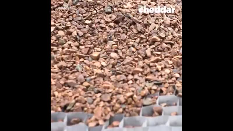 GroundGrids honeycomb design stabilzes gravel used in walkways and driveways.
