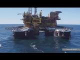 Демонтаж гигантской нефтяной платформы весом 24000 тонн