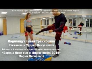 Ударка кёкусинкай. мария яковлева. чемпионка кубка «barents open cup of fitness model 2018»