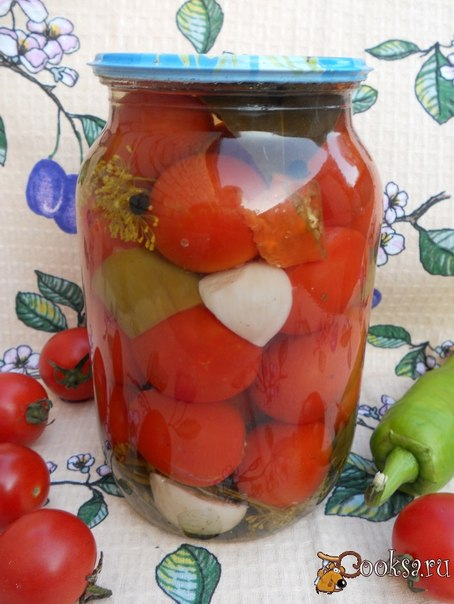 Маринованные помидоры черри Предлагаю рецепт очень вкусных маринованных помидоров черри. Расчет дан на 1 л банку.